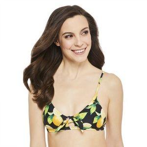 Lemon Bunny Tie Bikini Top